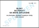 Bloky na pokuty na místě zaplacené ukládané krajskými úřady nebo obcemi za správní delikty právnický