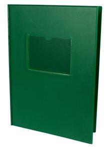 Desky na třídní knihy a výkazy s okénkem - zelené