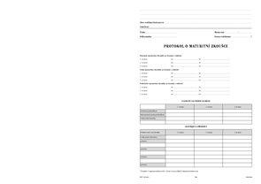 Protokol o maturitní zkoušce - obal