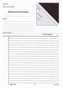 Písemná maturitní zkouška (česko-francouzské třídy)