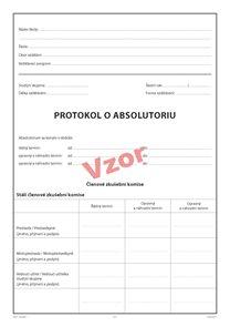 Protokol o absolutoriu (na třídu)