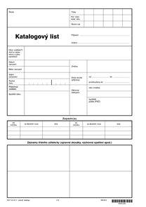 Katalogový list - (na 1 žáka)