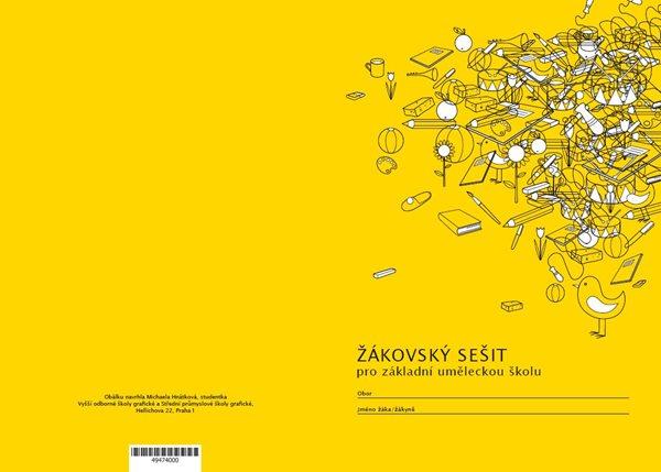 Žákovský sešit pro ZUŠ - sešit A5 24 str., kulaté rohy