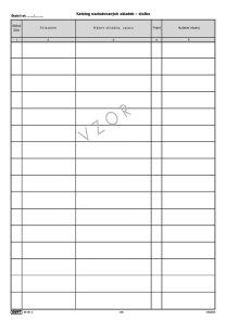Katalog nastudovaných skladeb a záznamy o vystoupení - vložka