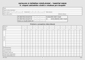 Katalog o průběhu studia pro II. stupeň - taneční obor