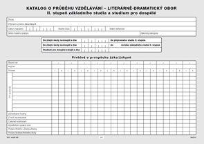 Katalog o průběhu studia pro II. stupeň - literárně dramatický obor