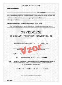 Osvědčení o získání profesní kvalifikace (fyzické osoby)