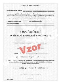 Osvědčení o získání profesní kvalifikace (zkoušky před komisí)