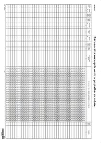 Záznam stravovaných osob a poplatků za měsíc