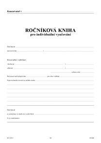 Ročníková kniha pro individuální vyučování - obal