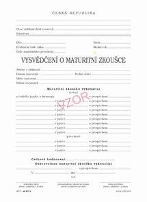 Vysvědčení o maturitní zkoušce v českém a cizím jazyce - pro bilingvní gymnázia