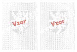 Bianco malý státní znak + lipové listy, oboustranné