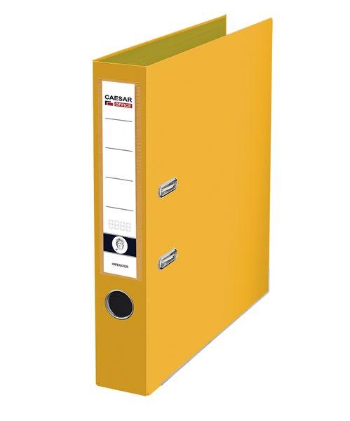 CAESAR OFFICE IMPERATOR Pořadač pákový A4 5 cm, lišty - žlutý