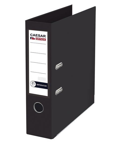 CAESAR OFFICE IMPERATOR Pořadač pákový A4 7,5 cm, lišty - černý