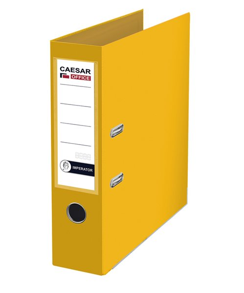 CAESAR OFFICE IMPERATOR Pořadač pákový A4 7,5 cm, lišty - žlutý