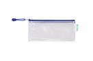 Obálka se zipem DL, PVC síťovina - modrá