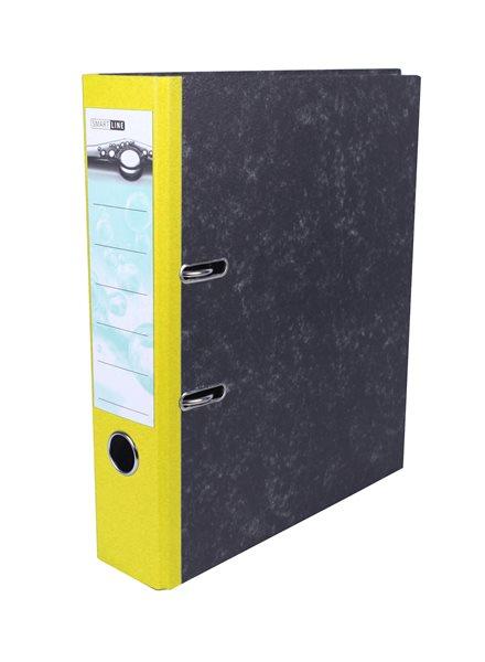 Pořadač pákový 8cm papír - žlutý