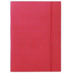 Donau Spisové desky s gumou A4 lepenka, kostkovaný vzor - červená