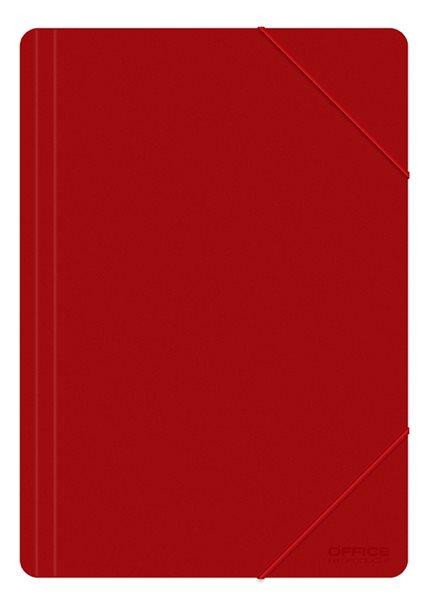Desky s gumou PVC A4 3 klopy FORMAT - červená