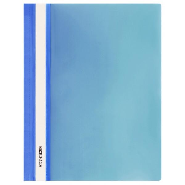 Rychlovazač ECONOMIX A4 plastový lesklý 1 ks - modrý