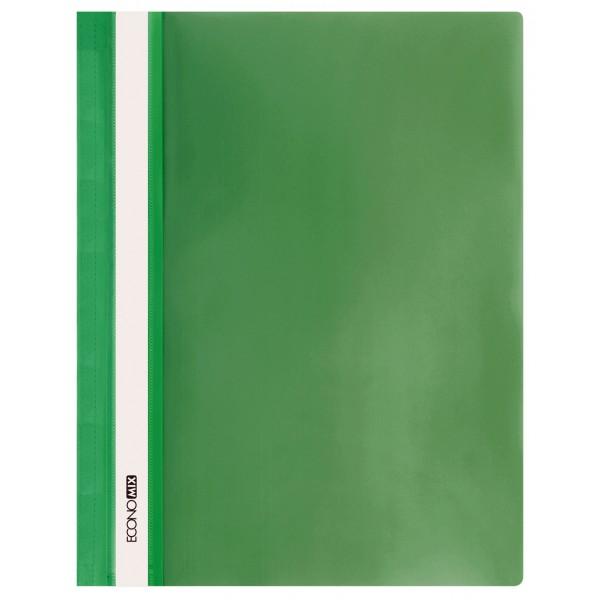 Rychlovazač ECONOMIX A4 plastový lesklý 1 ks - zelený