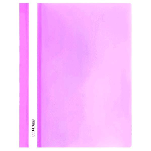 Rychlovazač ECONOMIX A4 plastový lesklý 1 ks - růžový