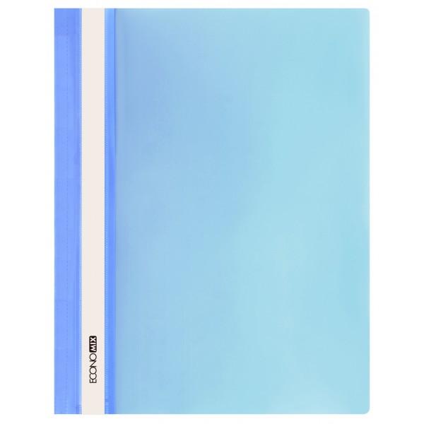 Rychlovazač ECONOMIX A4 plastový lesklý 1 ks - sv.modrý