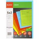 Zakládací složka ELCO Ordo s oknem a potiskem A4 10 ks/bal. - mix 5 barev