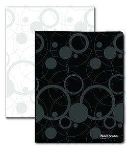 Karton Black & White PP Pořadač 4kroužek  - černý