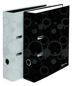 Karton Black & White Pořadač pákový lamino 8 cm - černý