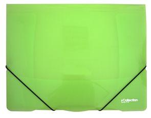 Karton E-collection Desky s gumou PP 3 klopy A4 - zelené