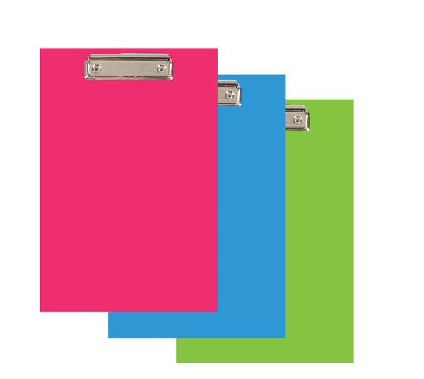 PP Psací podložka Color Office lamino A4 s klipem - modrá