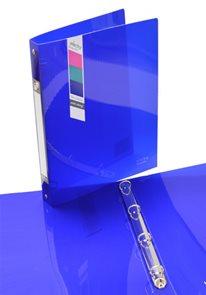 Karton PP Pořadač ELECTRA 4kroužek 3,3 cm - tmavě modrý