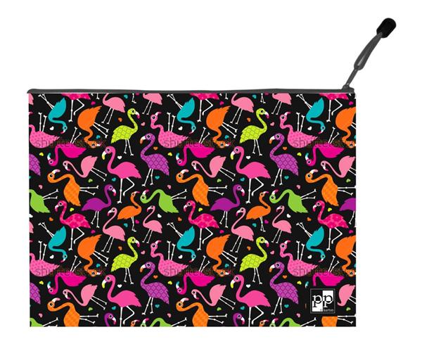 Karton PP Zipová obálka A5 - Flamingo