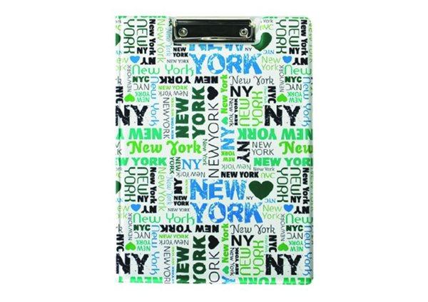 Karton PP Psací podložka A4 s klipem uzavíratelná - New York