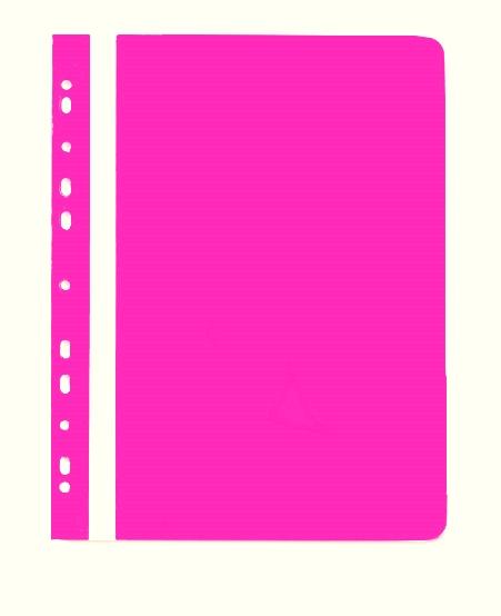 PP Rychlovazač plastový A4 s euroděrováním 1 ks - růžový
