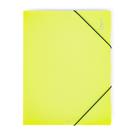 PP Desky s gumou A4 3 klopy neprůhledný PP - žlutozelená/limeta