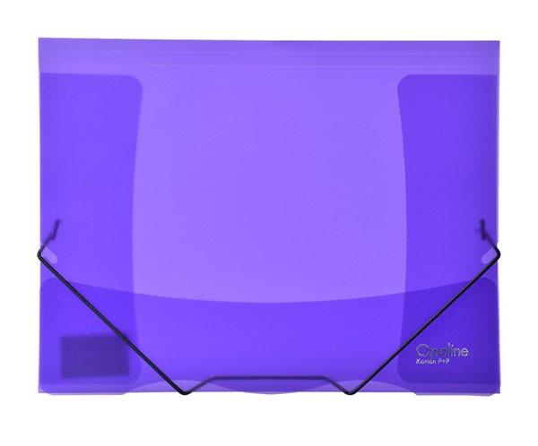 Karton PP Opaline Desky s gumou A4, PP, 3 klopy - fialové