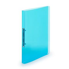 Pořadač 2kroužek A4 2 cm průhledný PP - modrý