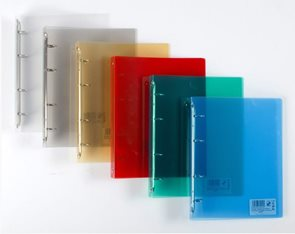 PP Pořadač 4kroužek A5 2,5 cm průhledný PP - čirý