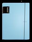 Karton PP PASTELINi Desky s gumou A4 3 klopy, lamino - modrá