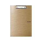 Karton PP Metallic Psací podložka A4 s klipem uzavíratelná - zlatá