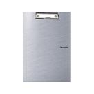 Karton PP Metallic Psací podložka A4 s klipem uzavíratelná - stříbrná