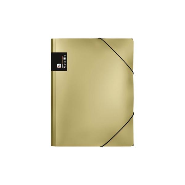Karton PP Metallic Desky s gumou A4 PP - zlatá
