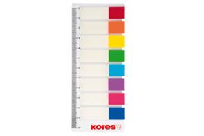 Kores Samolepicí záložky na pravítku 12 × 45 mm - 8 barev