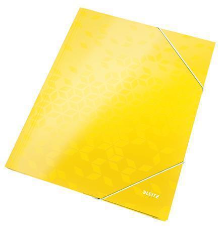 Leitz Spisové desky WOW s gumou - žluté