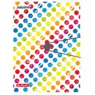 Herlitz Desky s gumou 3 klopy A4 - SmileyWorld Rainbow