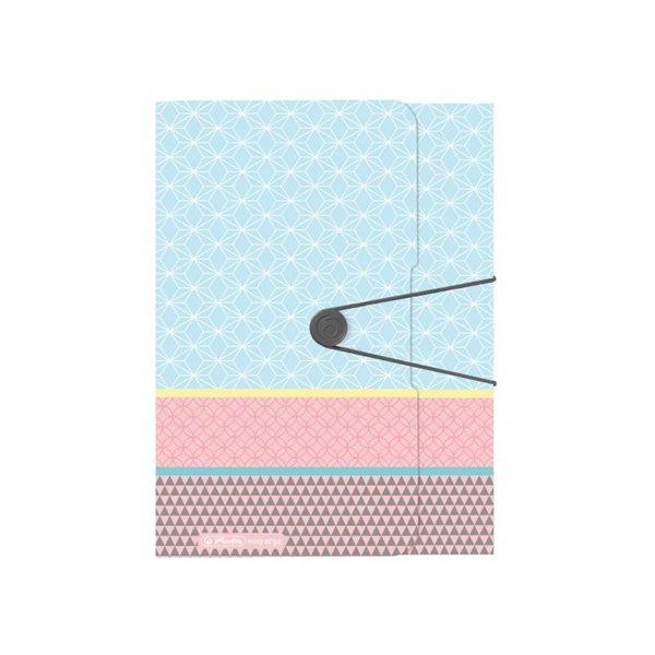 Herlitz Desky s gumou A4 3 klopy - Graphic Pastels Blue