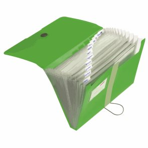 Herlitz Spisové desky A4 PP organizační, 12 přihrádek - zelené