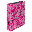 Herlitz Pořadač A4/8 cm lamino - Kamufláž růžová